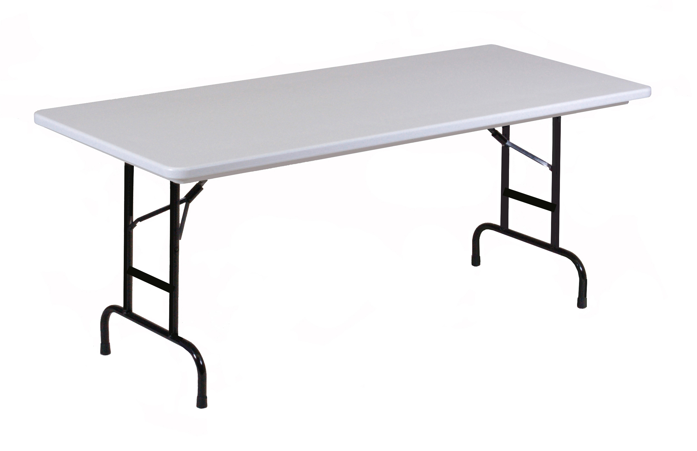 Correll Gray Granite Commercial Duty, Adjustable Height Plastic Top Folding  Table. Height Adjusts From