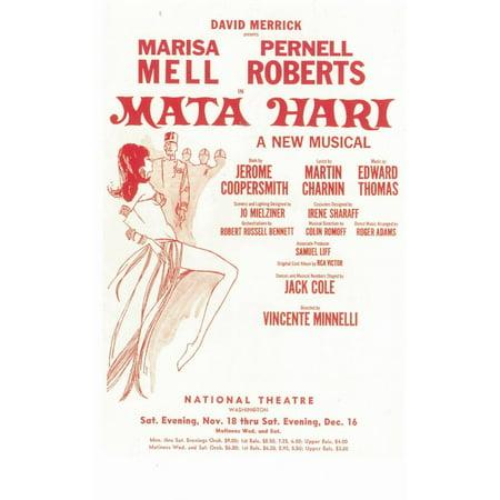 Mata Hari ( Broadway ) POSTER Mini Promo A - Juan Mata Halloween