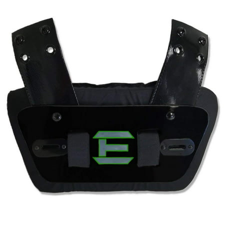 EliteTek Sports - Universal FIT for All Shoulder Pads - Football - Back Plate - Sternum Plate - Youth & Adult Sizes - Adjustable & Removable (Black, Youth Back