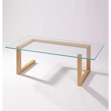 Mia Coffee Table - Glass & Wood - image 1 of 1