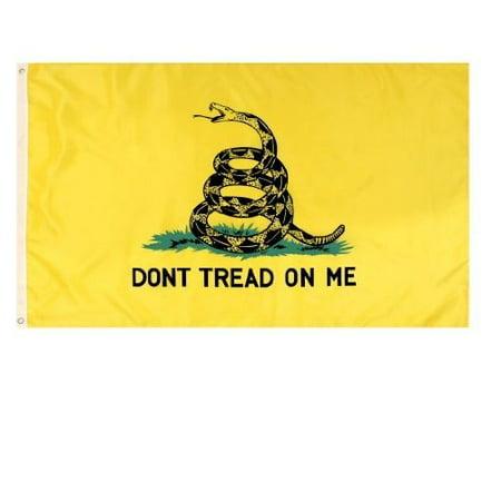 Yellow 50 Flags (Rothco Don't Tread on Me Flag, 3' x)