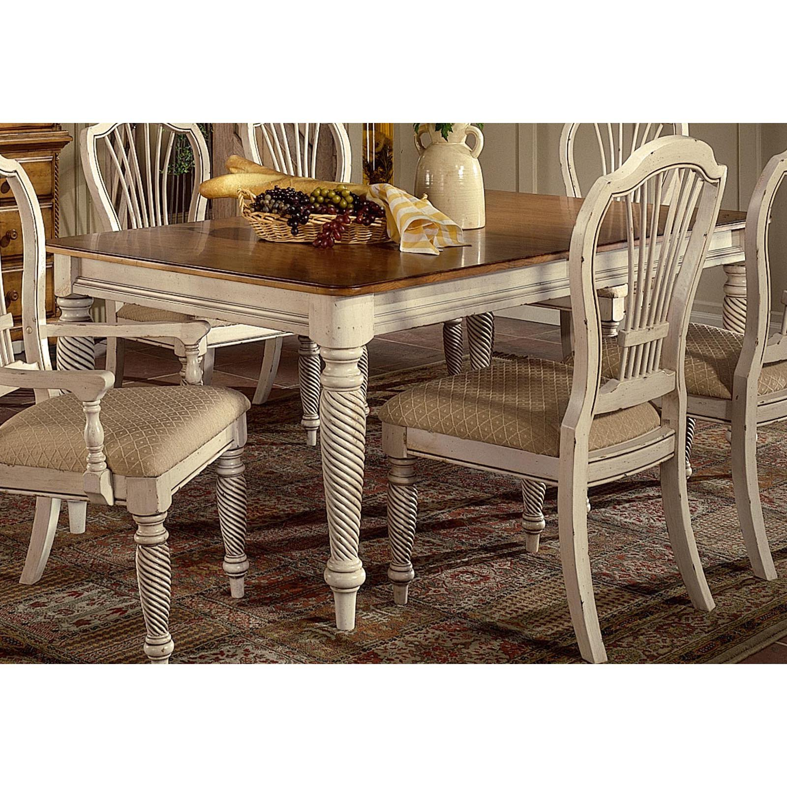 Hilale Furniture Wilshire Rectangle Dining Table With Two 18 Leaves
