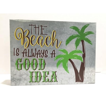 The Beach Is Always a Good Idea Metal Wall Decoration Media Room Theater