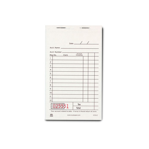 Royal White Sales Book Paper, Carbonless 2 Part Booked, C...