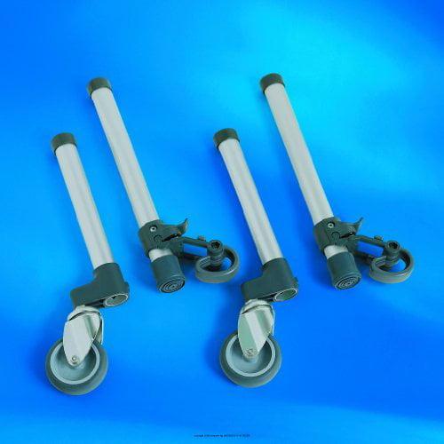 Invacare Swivel Wheels with Glide Tips, Whl Wlkr 3 in Swivel W-Glide, (1 PACK, 4 EACH)