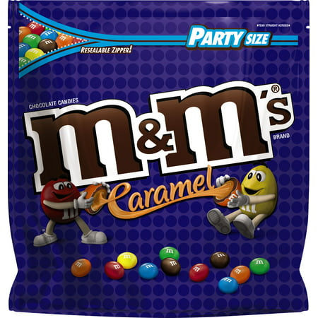 M&M'S Caramel Chocolate Candy Party Size, 38 Ounce Bag