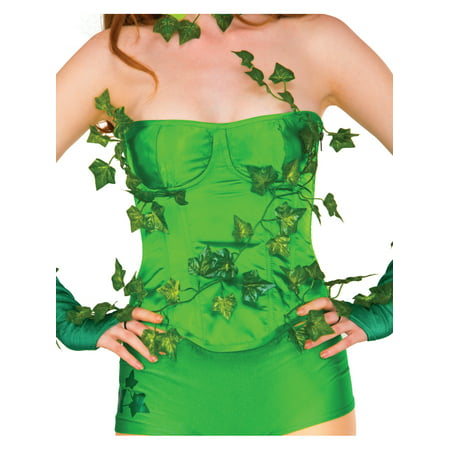 Adult Women's  Deluxe Poison Ivy Corset Costume Accessory (Green Corset Poison Ivy)