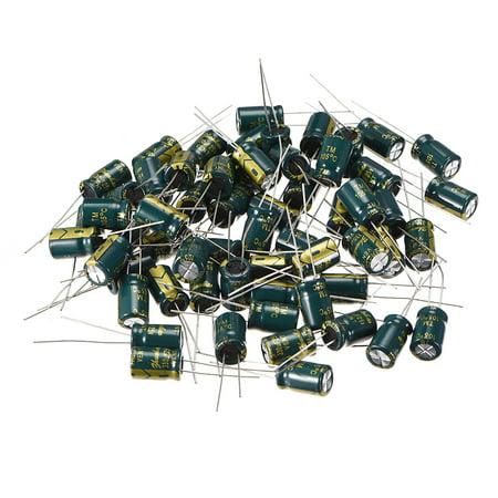 Aluminum Radial Electrolytic Capacitor 330uF 25V Life 8 x 12 mm 60pcs
