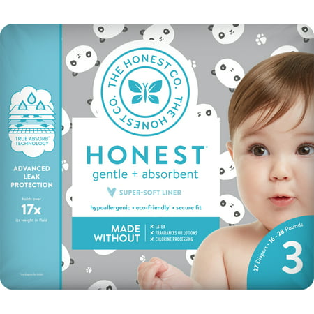 Hornet Auto - The Honest Company Diapers Pandas Size 3