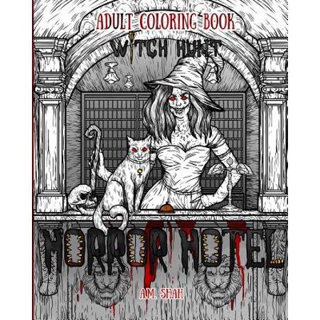 Adult Coloring Book Horror Hotel : Witch Hunt