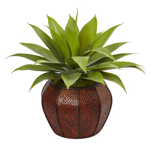 Bloomsbury Market Artificial Agave Floor Succulent Plant In Planter
