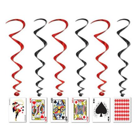 Casino Party Cards Dangling Cutouts 30
