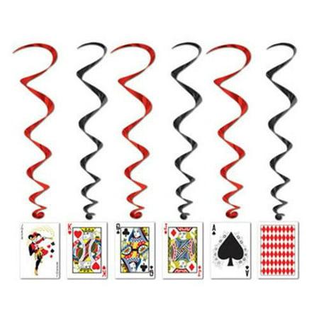Casino Party Cards Dangling Cutouts 30