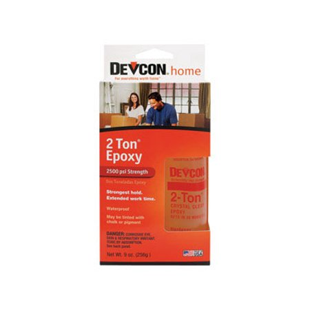 2 Ton Epoxy (Devcon 33345 S-33 2 Ton Crystal Clear)