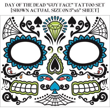 Day of the Dead Face Tattoo Male