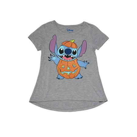 Disney Halloween Treat Pumpkin (Disney Stitch Halloween Pumpkin T-Shirt Gray (Big)