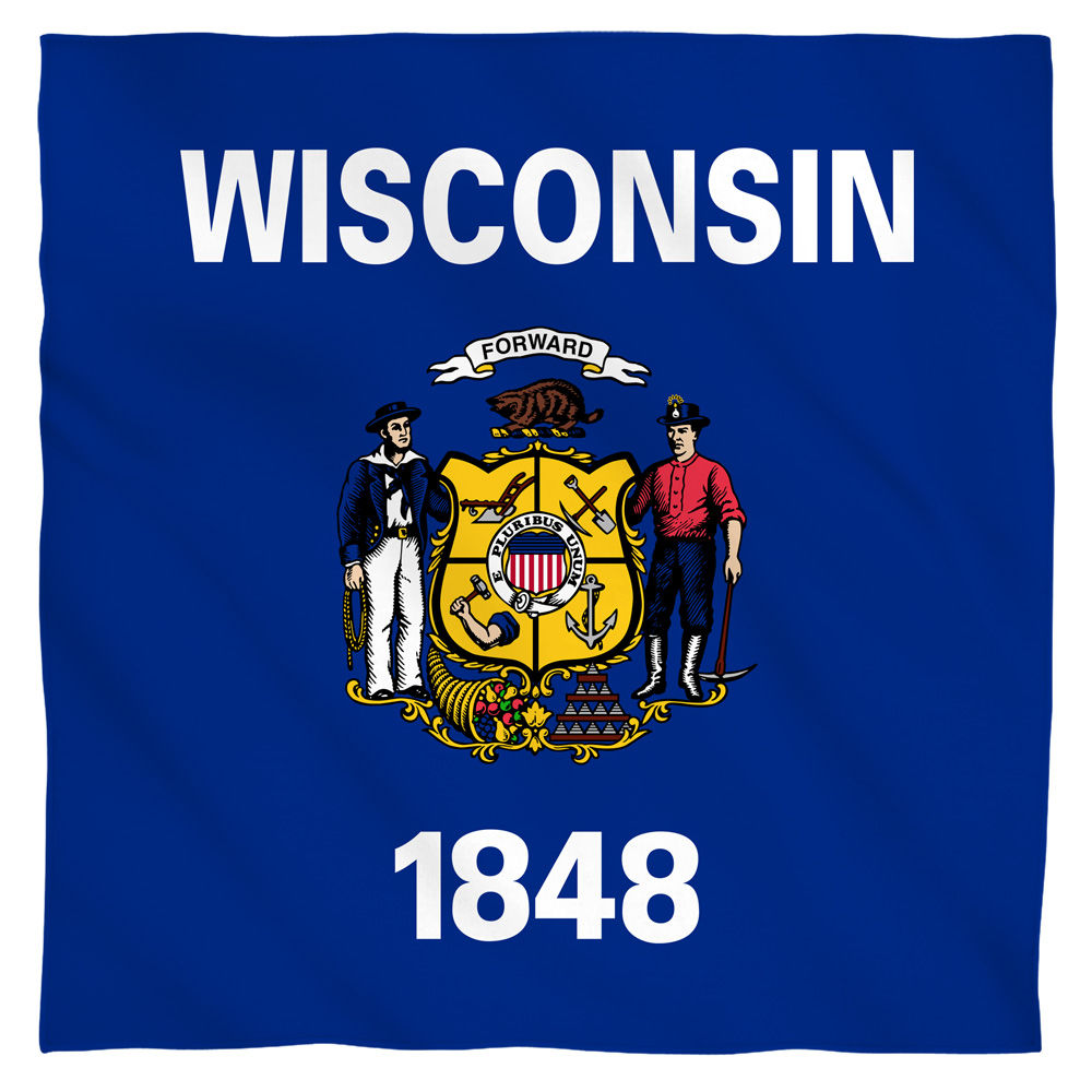 Wisconsin Flag Bandana