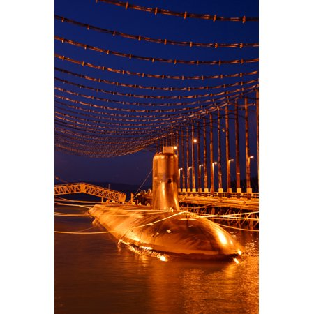 - LAMINATED POSTER The Sea Wolf-class attack submarine USS Jimmy Carter (SSN 23) sits moored in the Magnetic Silencing Poster Print 24 x 36