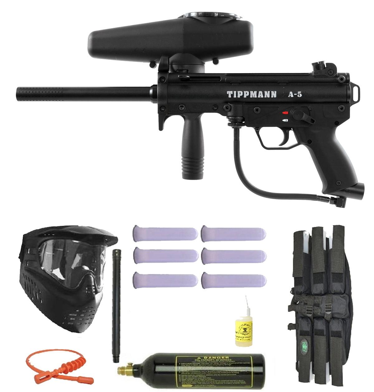 Click here to buy Tippmann A-5 Paintball Marker Gun 3Skull Super Mega Set.