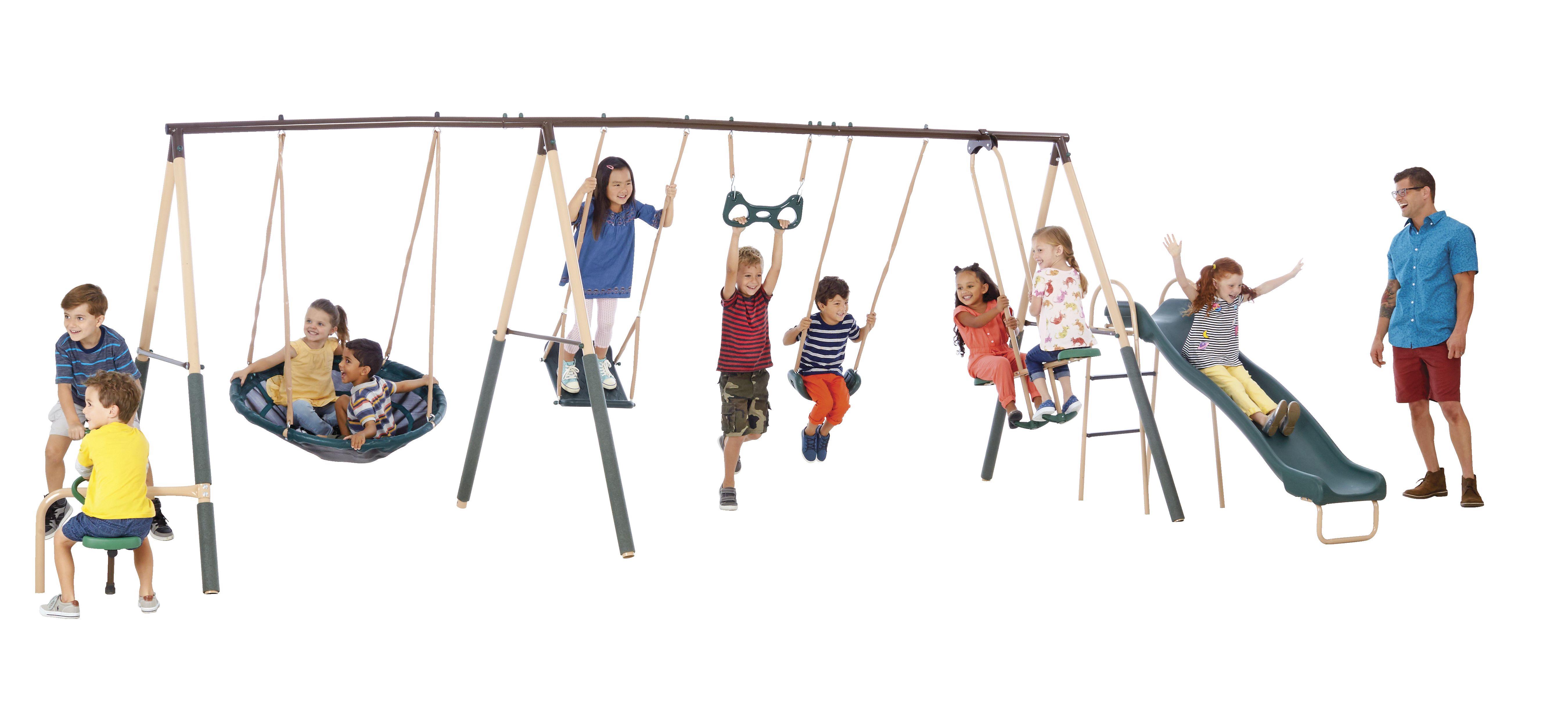 XDP Recreation Deerfield Playground Metal Swing Set