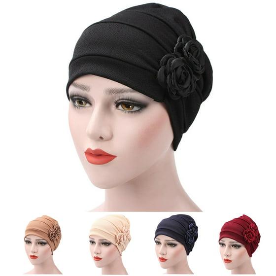 6d24ada8712 Outgeek - Turban Hat Stylish Flowers Chemo Beanie Turban Headwear ...