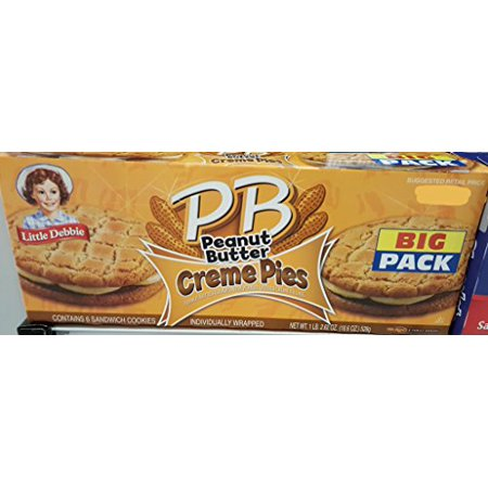 Little Debbie Big Packs 2 Boxes of Snack Cakes & Pastries (PB Peanut Butter Creme Pies) - Halloween Little Debbie Snacks