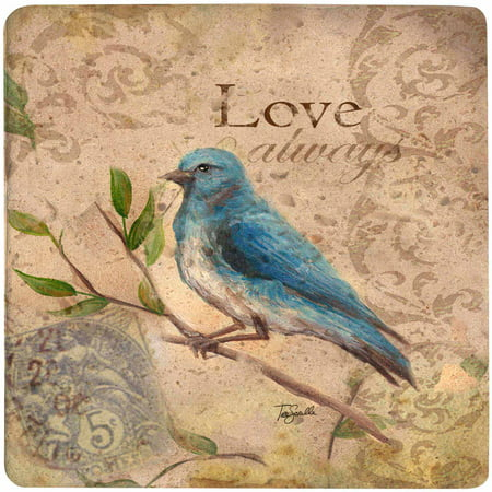 Acrylic Trivet (Thirstystone Ambiance Trivet, Love Song Bird, Travertine)