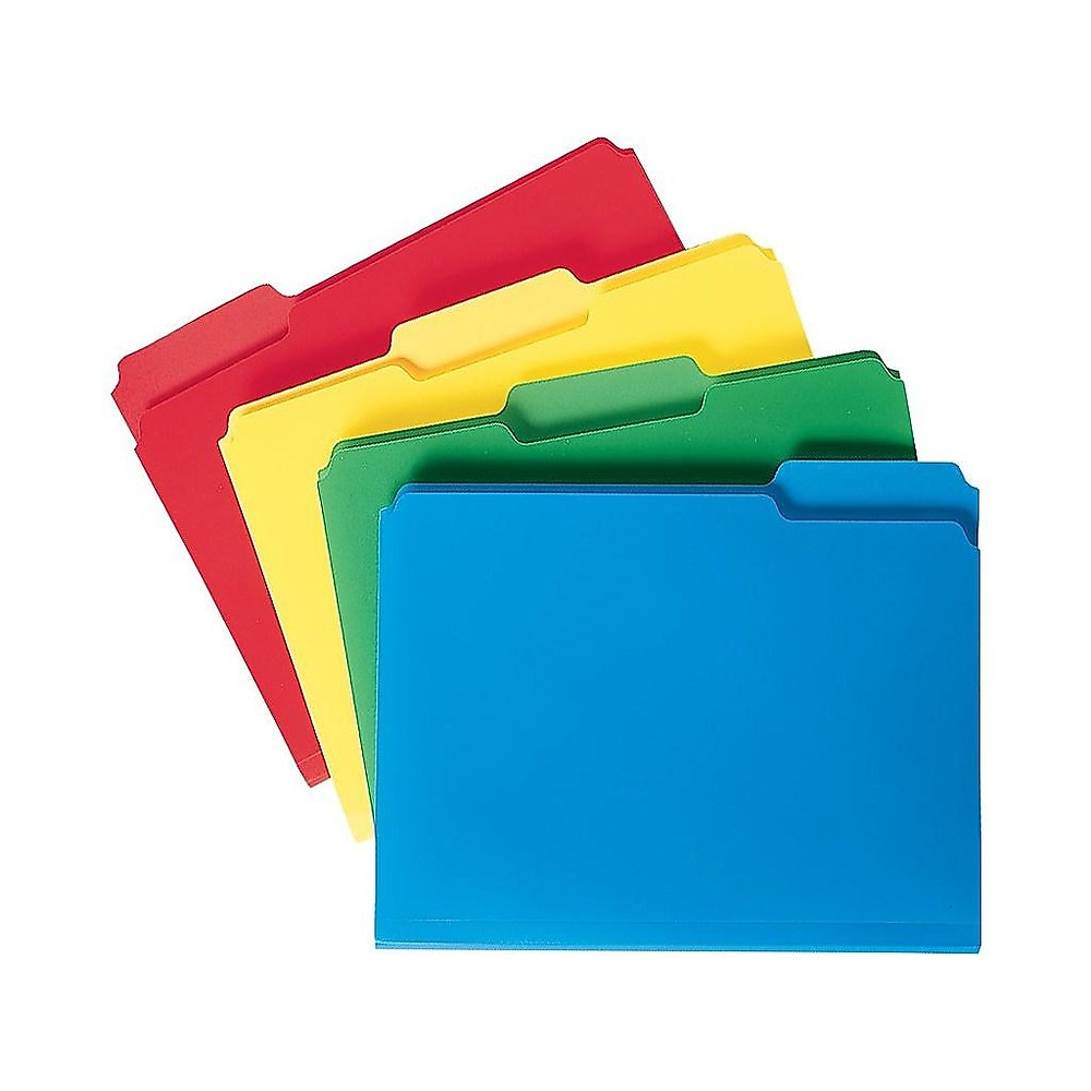 Staples File Folders 3-Tab Letter Size Assorted 24/Pack (10741) 439328