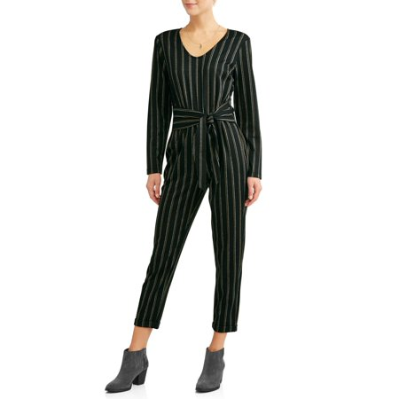 Women's Wrap Waist Vertical Stripe - Vault Jumpsuit For Sale