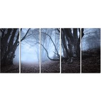 Design Art Natural Landscape in Autumn 5 Piece Wall Art on Wrapped Canvas Set