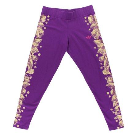 184ac46a36e1f Adidas Originals Womens Graphic Leggings Purple - Walmart.com