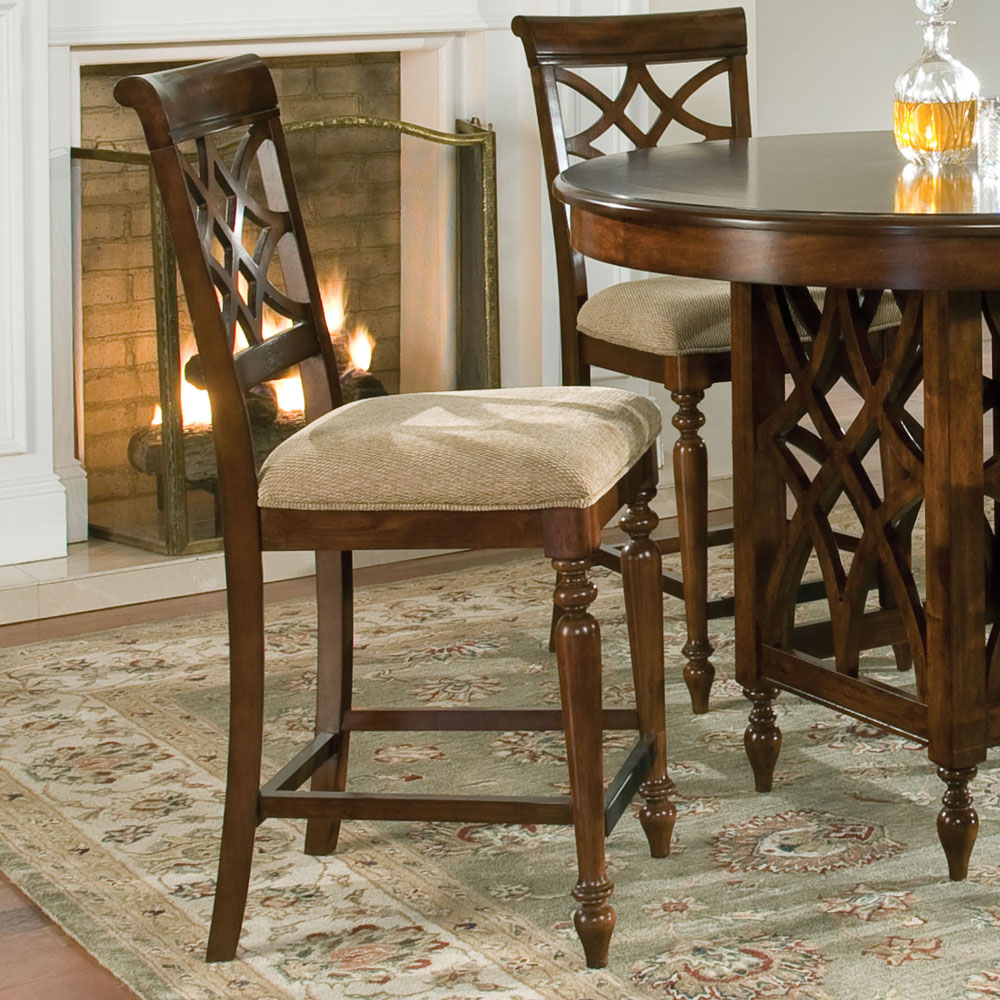 Standard Furniture Woodmont 24'' Bar Stool with Cushion (Set of 2)