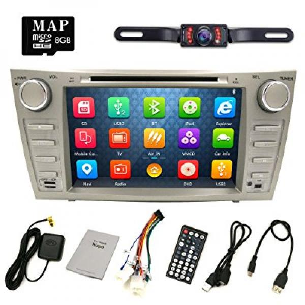 HIZPO Camry Aurion Car DVD Player 2006 2007 2008 2009 2010 2011 GPS Navigation with Free map card