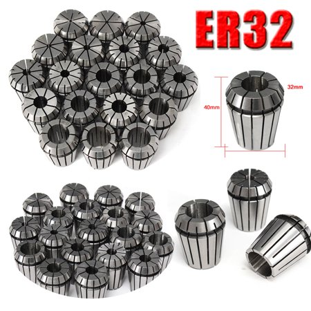19Pcs ER32 for Precision Spring Collet Set For CNC Milling Lathe Tool Workholding