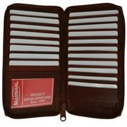 Genuine cowhide leather ziparound Credit Card/ID holder 729 CF