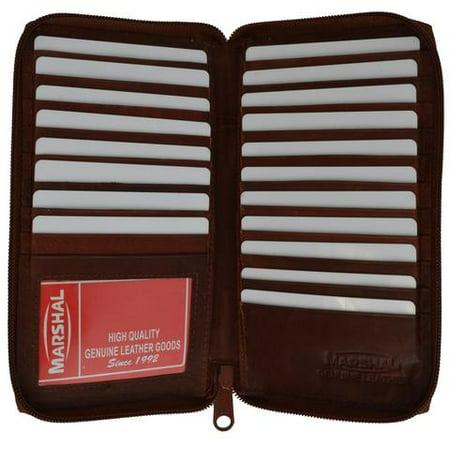 Genuine cowhide leather ziparound Credit Card/ID holder 729 CF (Skin Id 32)