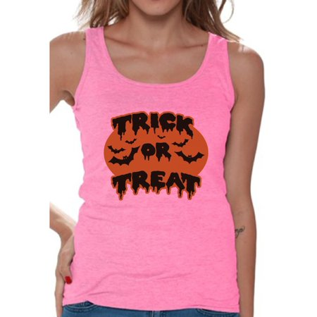 Awkward Styles Women's Halloween Graphic Tank Tops Trick or Treat Scary Bats - Halloween Bat Treats