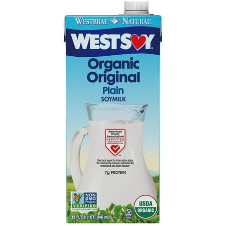 Westbrae West Soy Organic Original Soymilk, 32 fl  oz