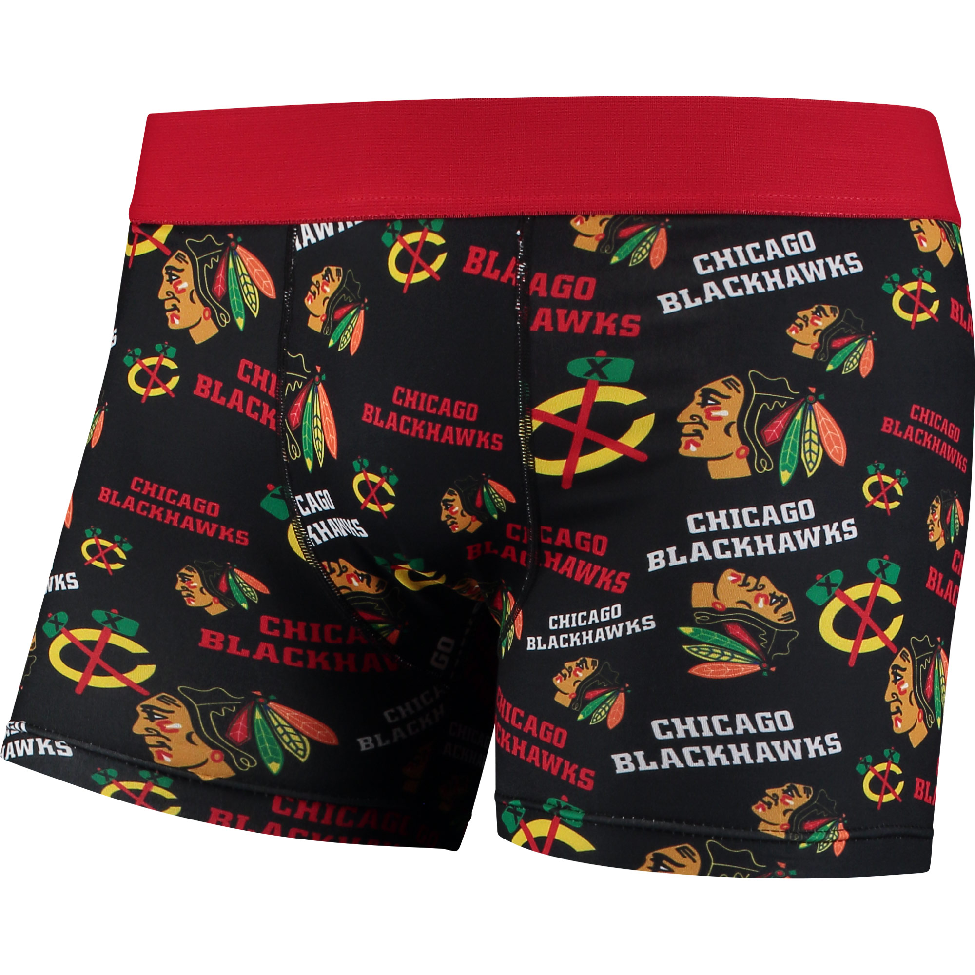 Chicago Blackhawks Repeat Logo Compression Underwear Black by TEAM BEANS INC/FOREVER COLLECTIBLES
