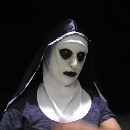 Nun Cosplay Mask Costume Prop Helmet Valak Halloween Scary Horror Movie - Halloween Scary Quotes From Movies