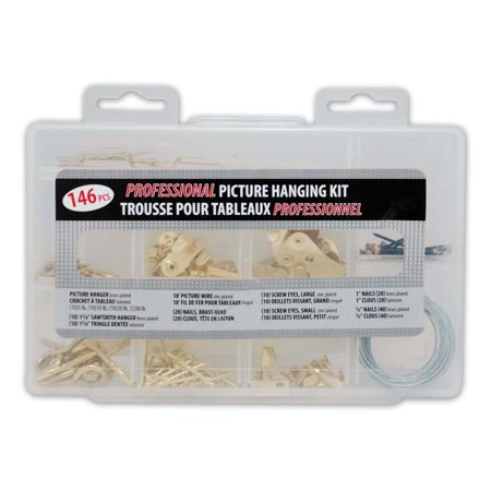 Enigma Professional Picture Hanging Kit (146 Pieces)