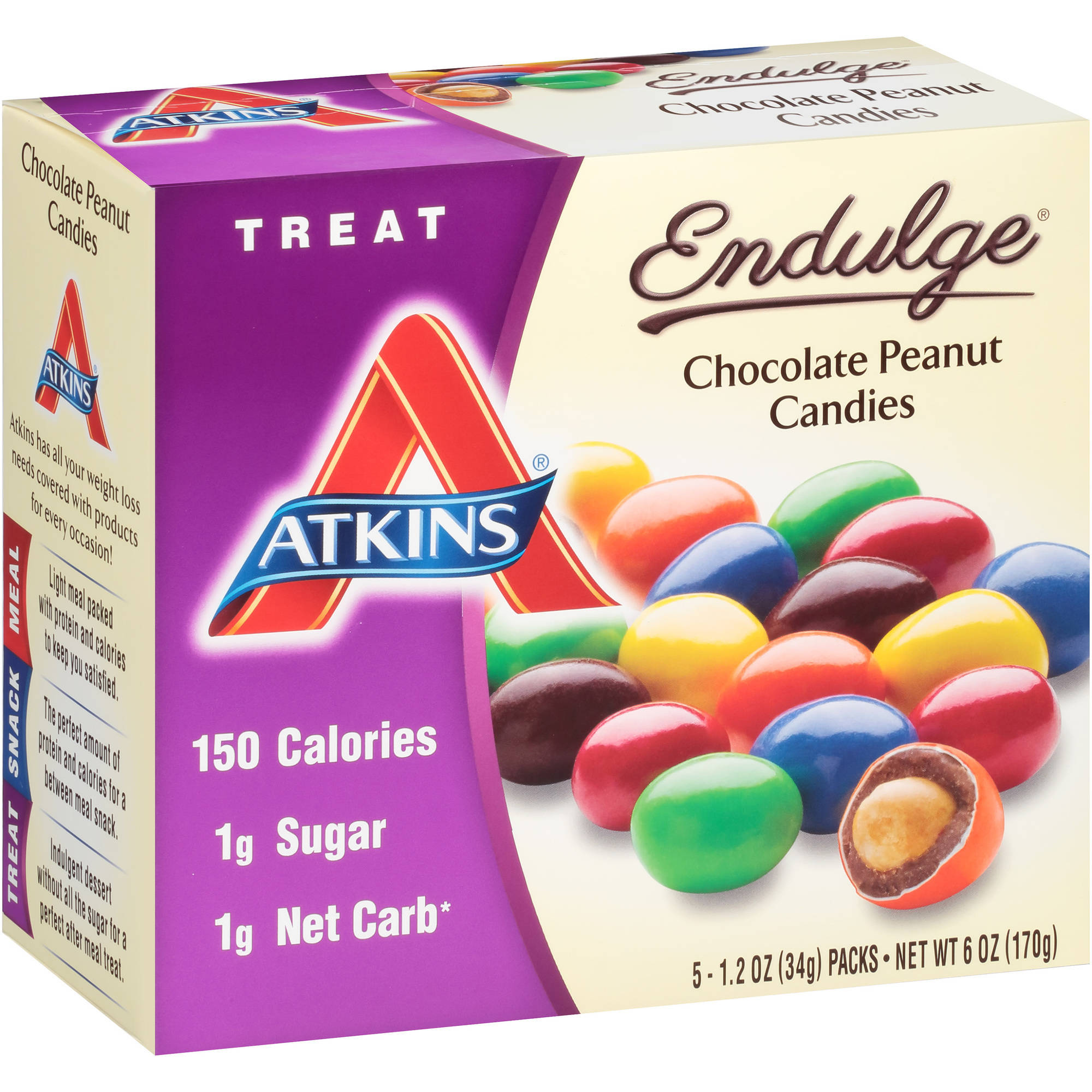 Atkins Endulge Chocolate Peanut Candies, 1.2 oz, 5 count