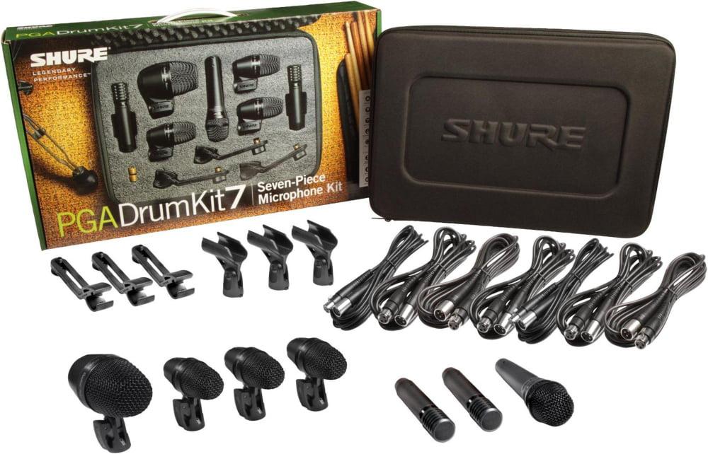 Shure PGADRUMKIT7 7-Piece Drum Microphone Kit by Shure