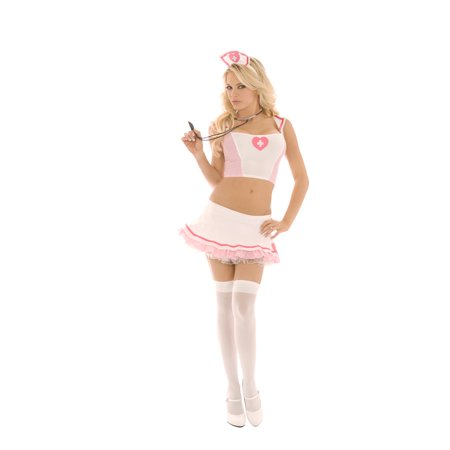 d0e2536343c6f Medication Mindy Nurse Sexy Doctor Fancy Dress Up Womens Halloween Costume  S - Walmart.com