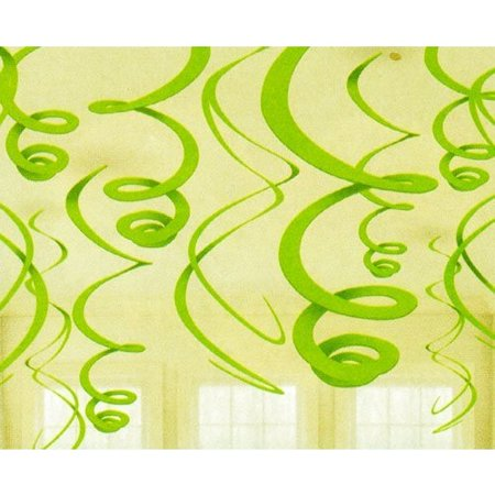 Plastic Swirl Decorations