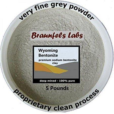 5 Pounds - 100% Pure Bentonite Clay ()