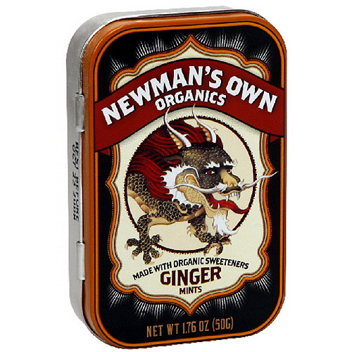 Newman's Own Organics Ginger Mints, 1.76 oz (Pack of 6)