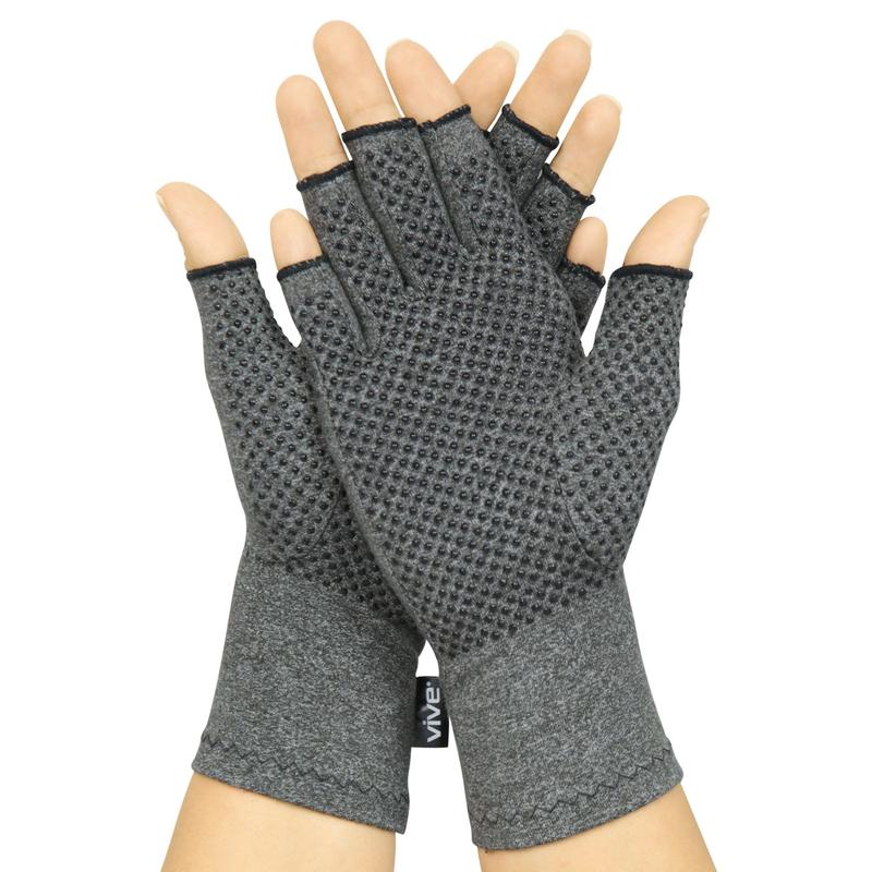 Comfortable Fit for Men and Women Vive Pink Arthritis Hand Compression Gloves Moisture Wicking Fabric Carpal Tunnel Support Osteoarthritis and Computer Typing Pain Open Finger for Rheumatoid