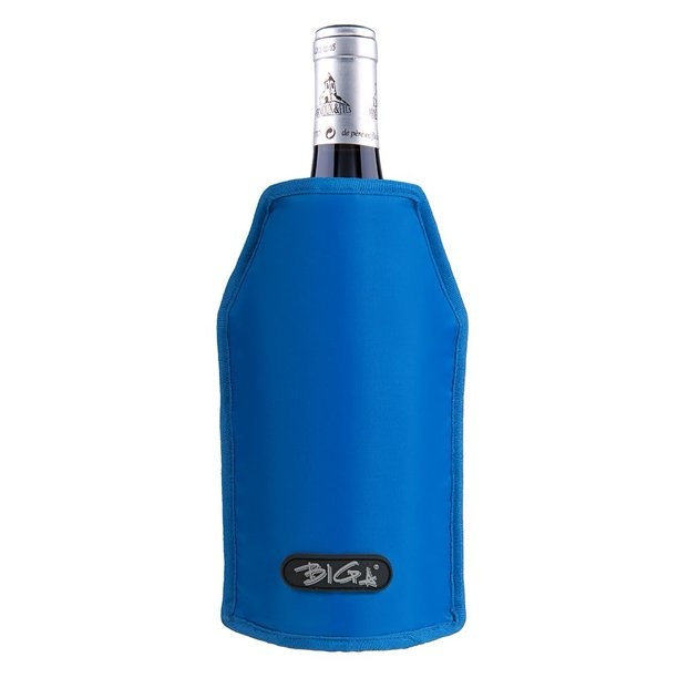 Biga Wine Cooler Sleeve Bottle Chiller For Beer And Champagne Blue Walmart Com Walmart Com