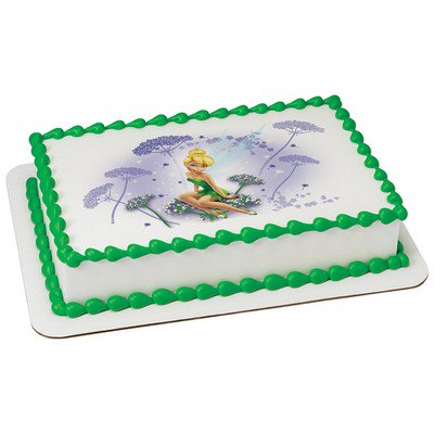Tinkerbell Edible Icing Image Cake Decoration Topper -1/4 - Tinkerbell Birthday Cakes